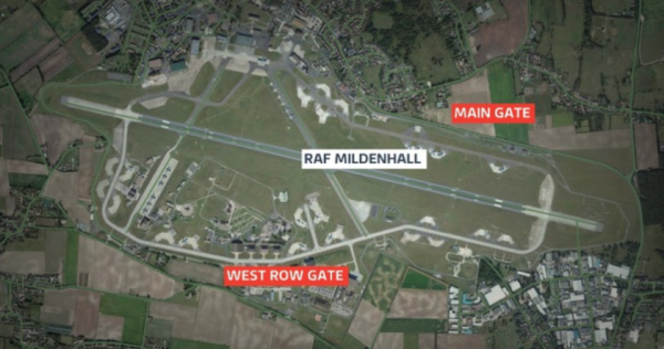 Shots Fired After Intruder Attempted To 'Ram' US Air Force Base Checkpoint In England