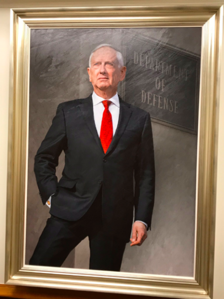 BEHOLD: Mattis' official SecDef portrait shows him sheathing his knife hand in his pocket