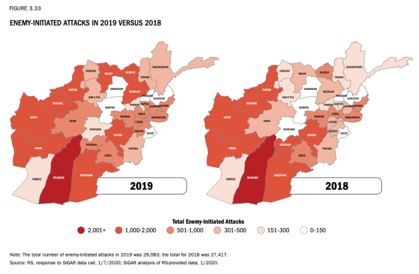 Taliban attacks in Afghanistan are at their highest level in a decade