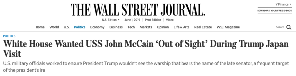 Navy: Oh, by the way, we did get a request to hide the USS John S. McCain during Trump's visit