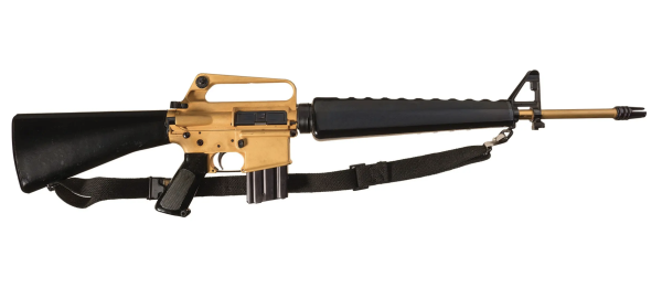 You can now score the golden M16 once owned by a Chairman of the Joint Chiefs