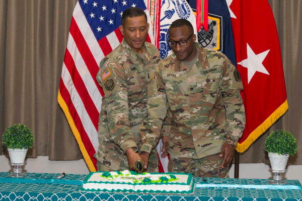 Army kicks off Sexual Assault Awareness Month with a cake-cutting ceremony, because of course