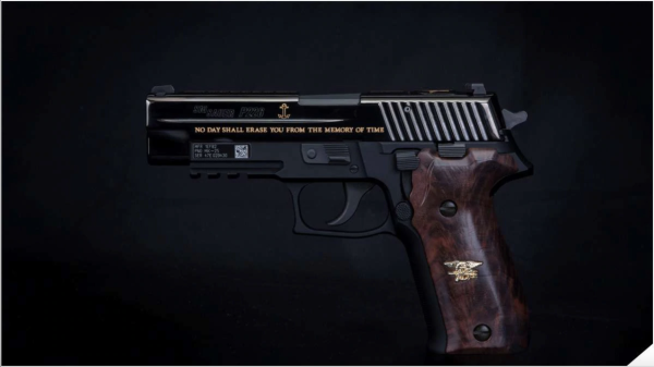 Sig Sauer unveils slick commemorative pistol to honor Navy SEAL Medal of Honor recipient