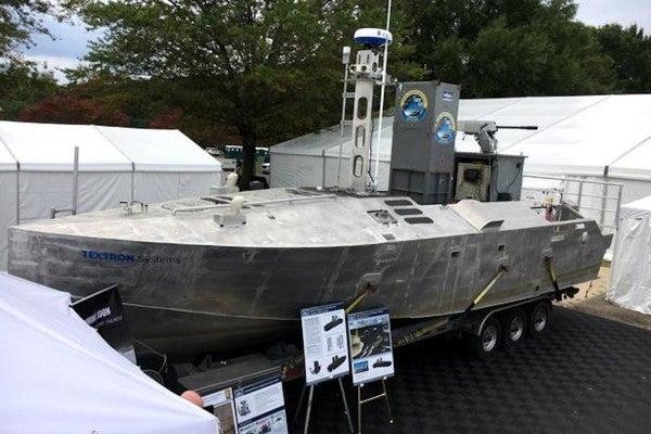 Behold the Navy's new Hellfire-laden robot mine-hunter