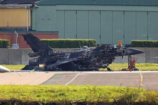 Technician Accidentally Fires Vulcan Cannon And Destroys An F-16 On The Ground In Belgium
