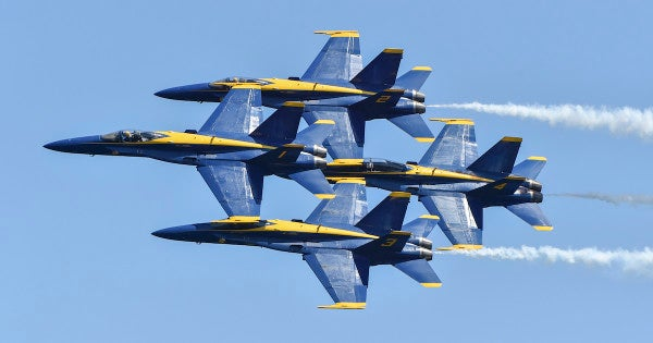 A pair of Blue Angels jets got a little too close for comfort during training in Florida