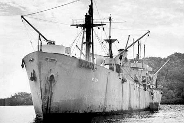 His father died in a WWII cargo ship explosion. Now a former CIA officer, he claims the Navy covered up the real cause