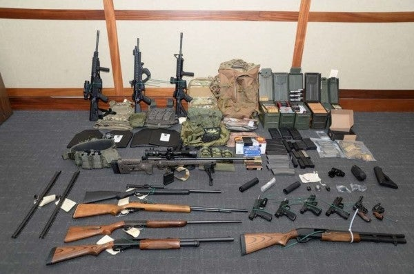 White supremacist Coast Guard officer stockpiled firearms and hit list of Democrats for mass terror attack