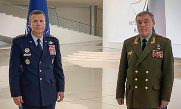 A top NATO general met with his Russian counterpart. The photo couldn't be more awkward