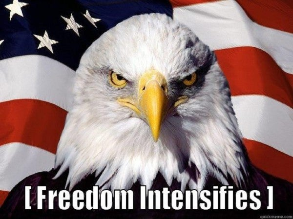 This is the only thing you'll need to post this 4th of July so everyone knows just how 'Merica you are