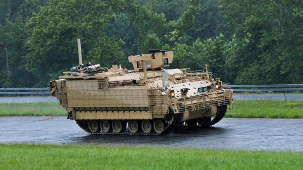 Proposed defense budget would slow production of Army's Armored Multipurpose Vehicle
