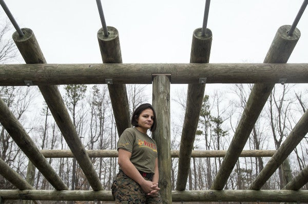 She fought to survive as a child and trained as an Olympic wrestler. Now she shows Marines how to fight