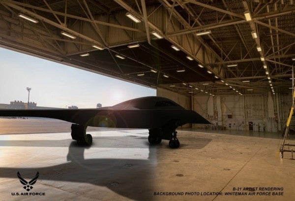 The Air Force finally released new images of its stealthy B-21 bomber