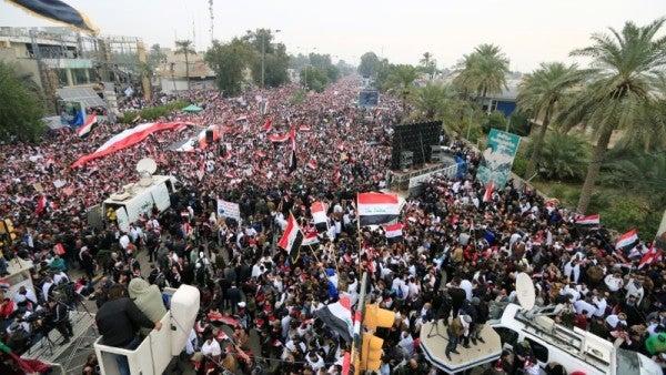 'No, No America'— Iraq protesters demand US militarypullout