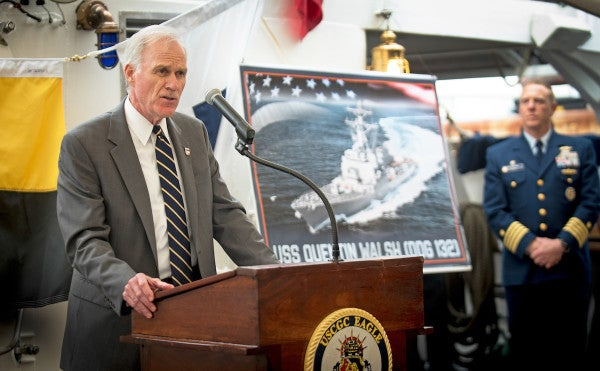 The Navy is naming a warship after a World War II Coast Guard hero