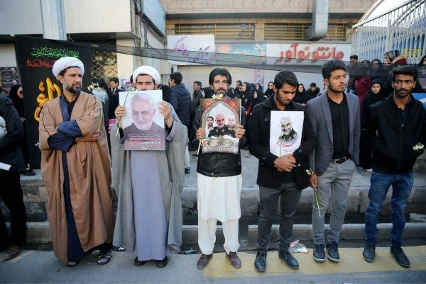 At least 50 killed in stampede at Qasem Soleimani's funeral