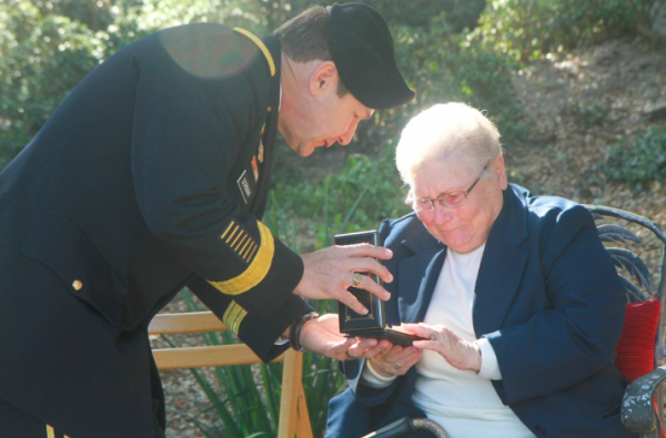 An Army staff sergeant was finally awarded the Silver Star he earned 75 years ago