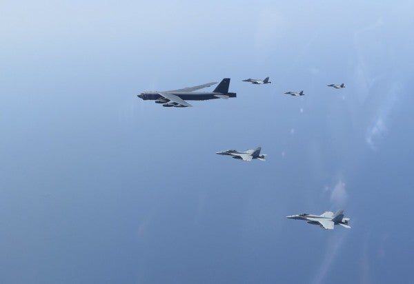 The Navy and Air Force spent the weekend conducting simulated strikes on Iran's doorstep