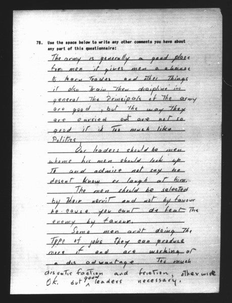 Uncensored surveys reveal what US soldiers really thought about America and the military during World War II