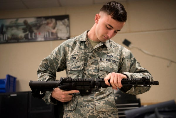 Air Force pilots are finally getting collapsible rifles to defend themselves if they eject in hostile territory