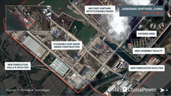Satellite images reveal the construction of China's third aircraft carrier, and it's the largest yet