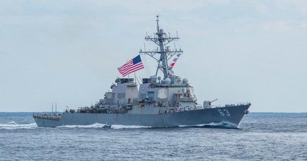 2 Navy warships sail through strategic Taiwan Strait in message to China
