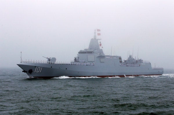 China shows off the first of its next generation destroyers