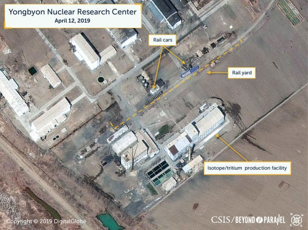 Satellite images may show reprocessing activity at North Korea nuclear site