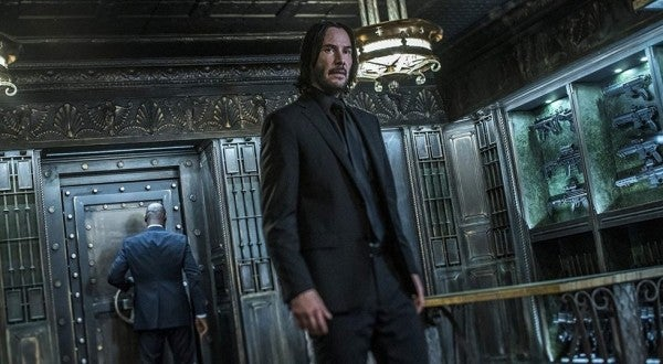 The new 'John Wick 3' trailer has motorcycle sword fights, nut-munching war dogs, and a surprise 'Matrix' reference