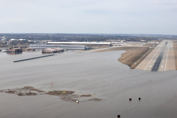 'It was a lost cause' — dramatic photos show Offutt Air Force Base engulfed by floodwaters