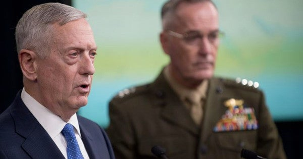 Swords, rifles, and booze: These were the gifts given to Pentagon officials in 2017