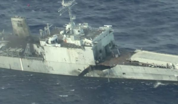 Watch The US And Its Allies Blow The Hell Out Of A Warship In A Clear Message To China