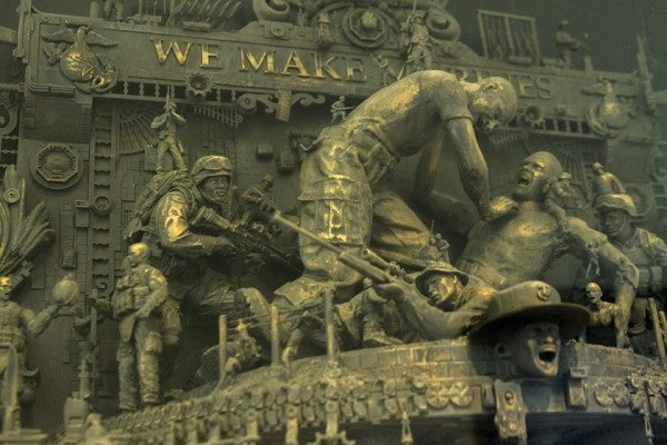 The Marines' Newest Statues Pay Homage To 242 Years Of Kicking Ass