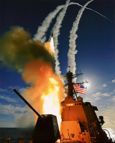 How A US Destroyer Responds When Someone Shoots At It