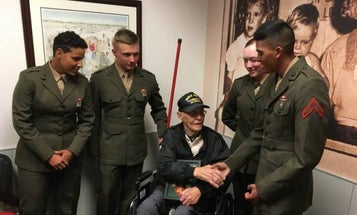 75 years after Iwo Jima, a veteran of the battle meets the newest Marines in North Carolina