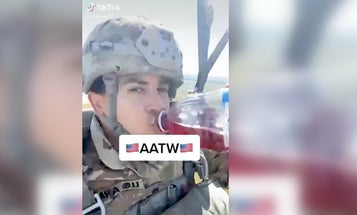 The Army is looking into the soldier who vibed with cranberry juice and Fleetwood Mac during an airborne jump