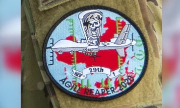 Air Force patch depicting MQ-9 Reaper drone over China stirs anger in Beijing