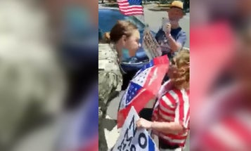 Navy petty officer under investigation for yelling 'f*ck Trump' at protestors while in uniform
