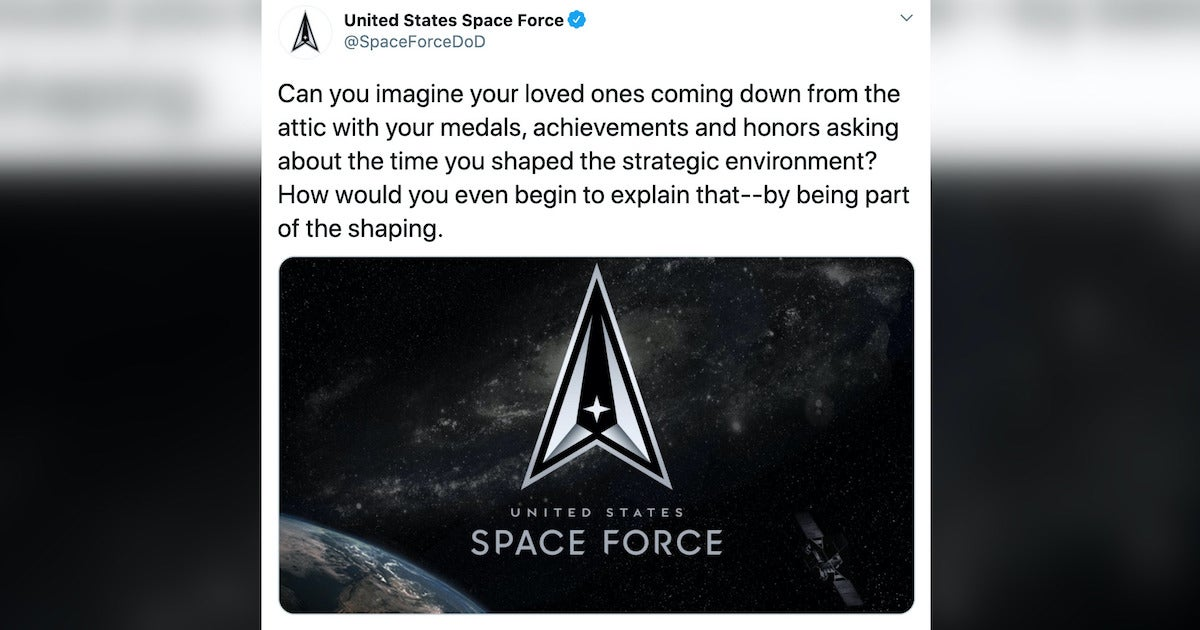 The Space Force is sorry about this 'clumsy' tweet about the Space Force