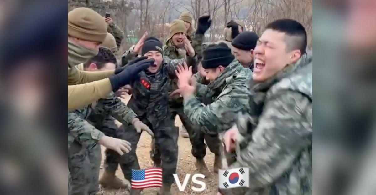 Watch South Korean troops destroy Marines in an international military dance-off