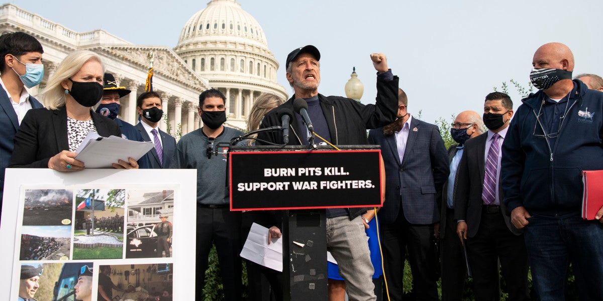 Jon Stewart to Pentagon: The F-35 can wait, but troops dying from burn pit exposure can't