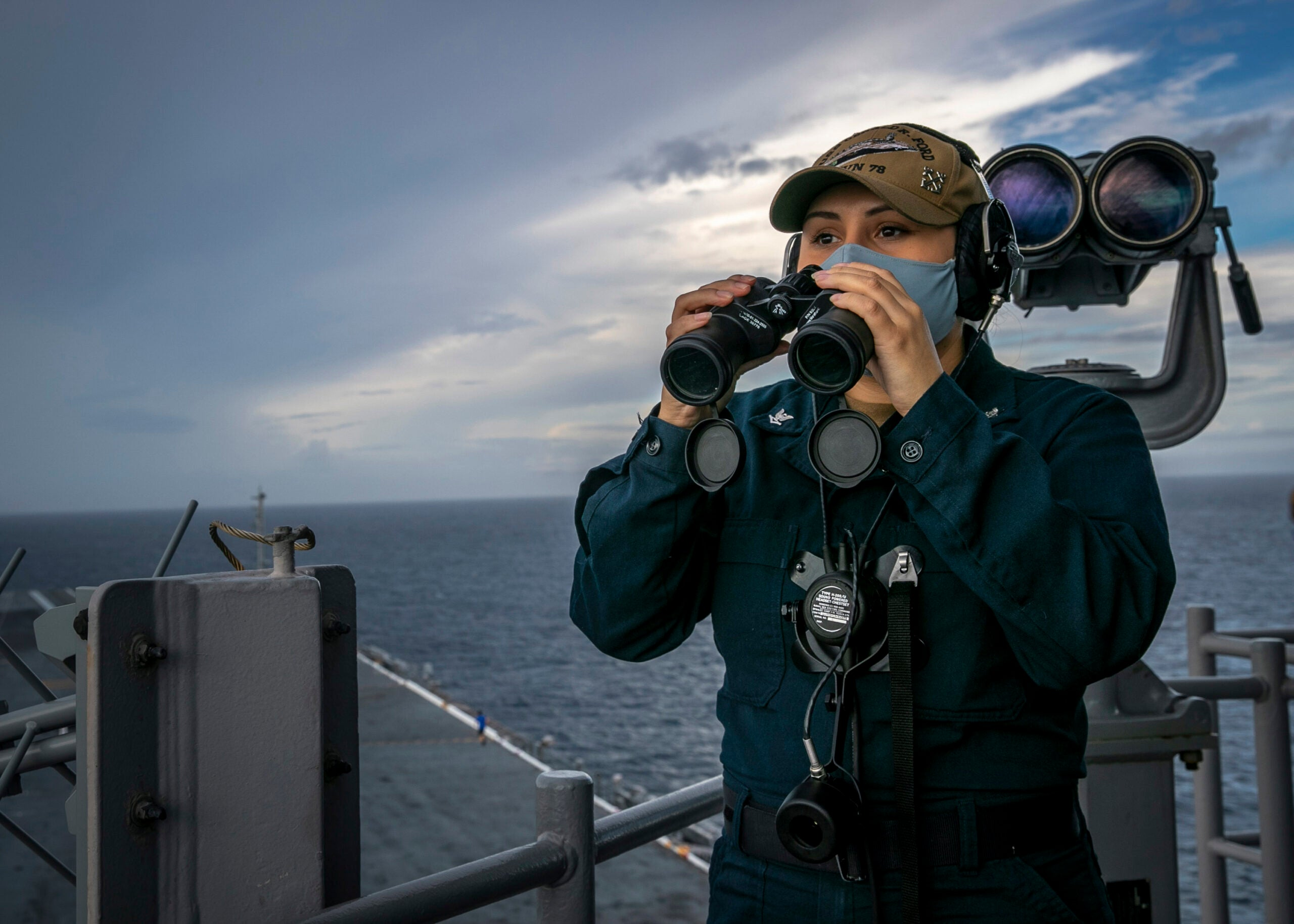 Meet the 'Iron 9,' the USS Gerald R. Ford's all-female bridge watch section