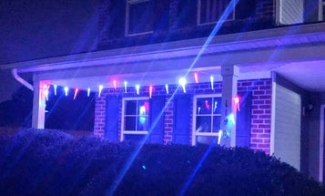 A mother says these patriotic lights honor her soldier son. Her HOA says they're a violation
