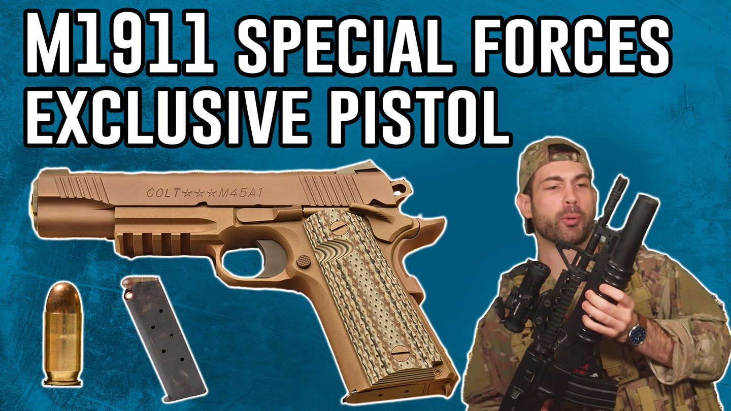 M1911 pistol is exclusively for high speeds