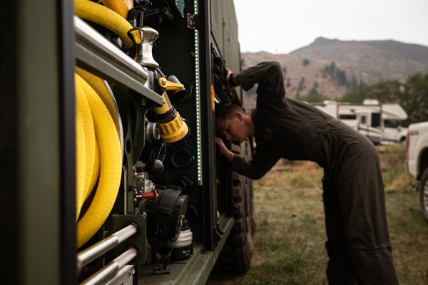Marines have joined the fight against California's raging wildfires