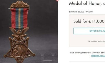 Army private's Medal of Honor sold for more than $15,000 by German auction house