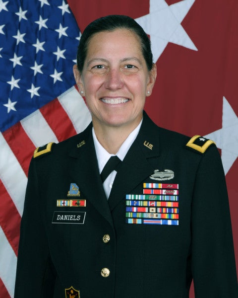A woman has been confirmed as the commander of the Army Reserve for the first time in history