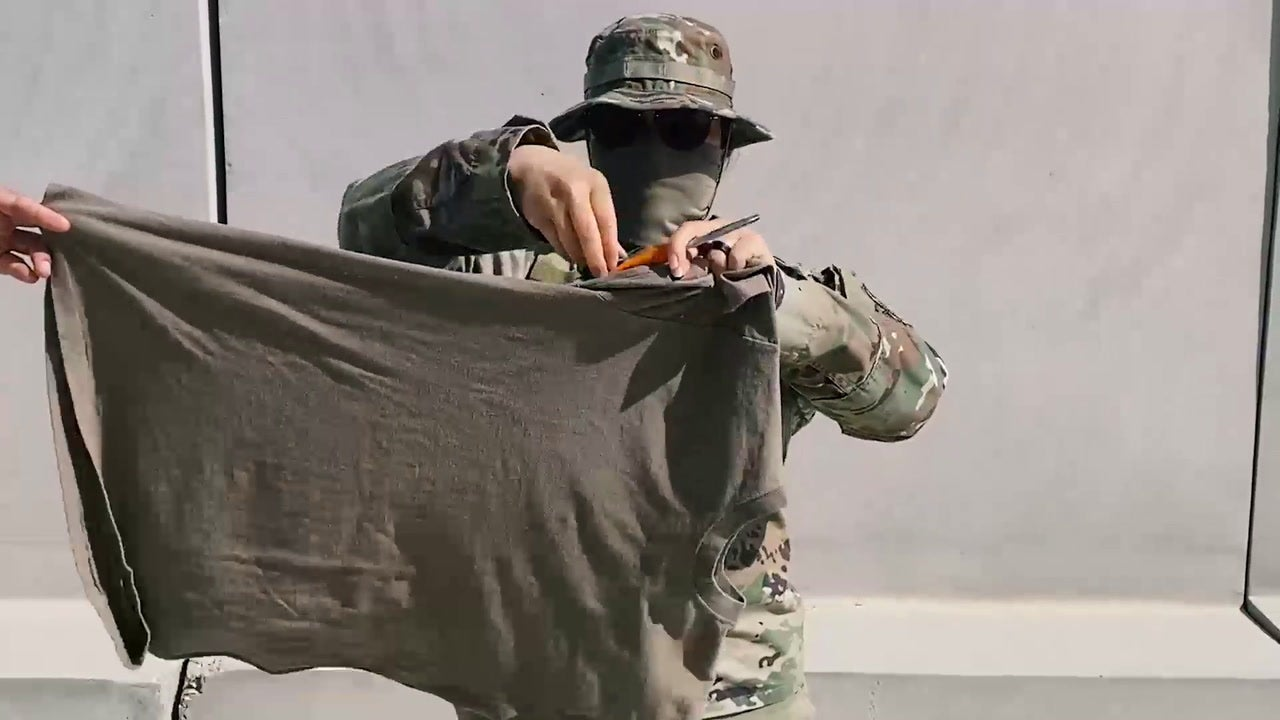 Watch the Army turn a t-shirt into a COVID-19 face mask