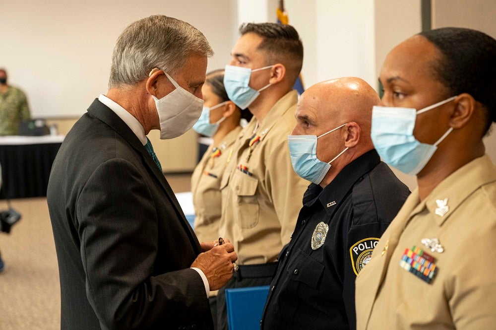 Sailors receive awards for thwarting a gunman who attacked Naval Air Station Corpus Christi