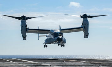 The Navy's new Osprey just conducted its first drop-off at sea